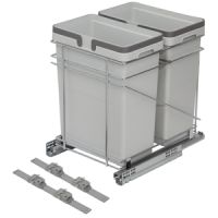 "QPAM15228C - 15"" WASTE BIN - TWO 32 QUART - FITS 18"" BASE CABINET (SOLD SEPAR"